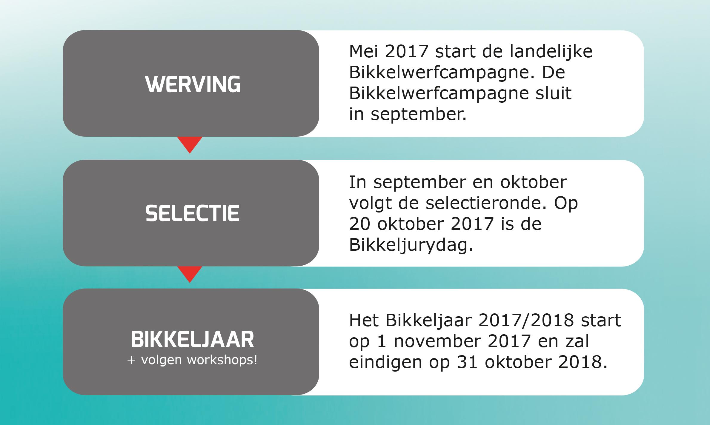 Overzicht Bikkeljaar 2017 2018